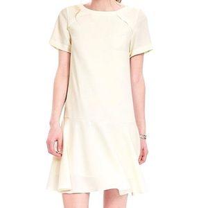 Banana Republic Flounce Dress in Ivory / Cream